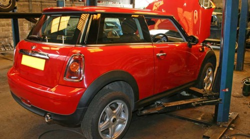Mini being repaired